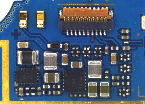 Blue PCB acquired by PROMICAM LITE 10