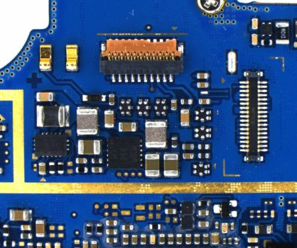 Blue printed circuit board acquired by PROMICAM 3-5CP