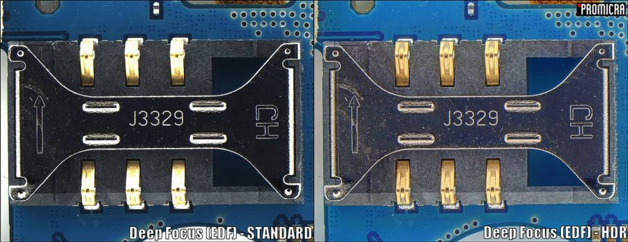 SIM card socket acquired by Deep Focus + HDR modules