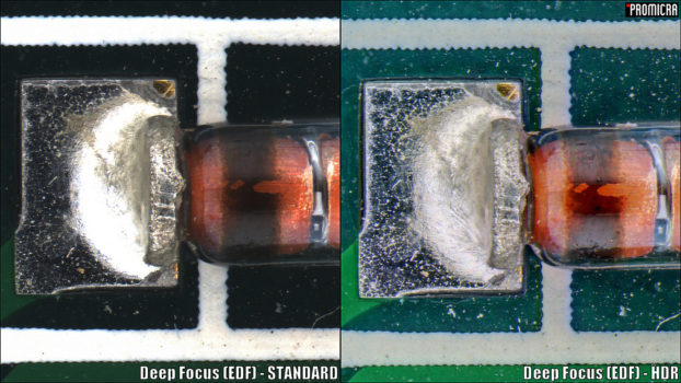 SMD diode acquired by Deep Focus + HDR modules