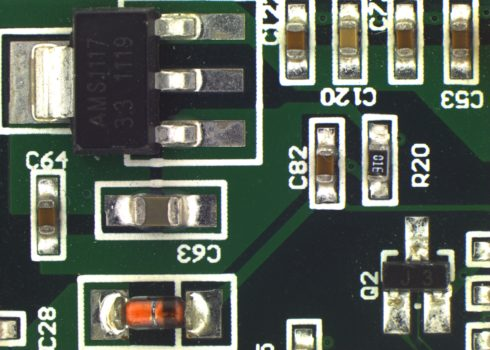 Green PCB acquired by PROMICAM LITE 10