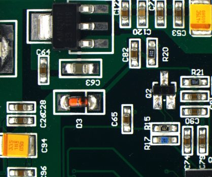 Green printed circuit board acquired by PROMICAM 3-5CP+