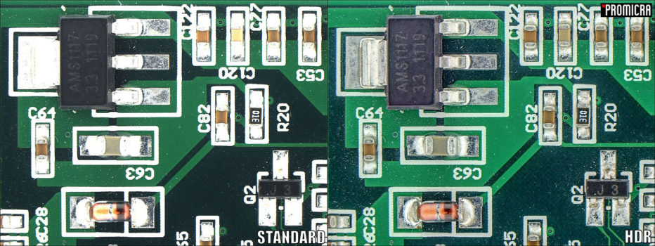 Printed circuit board acquired by HDR module