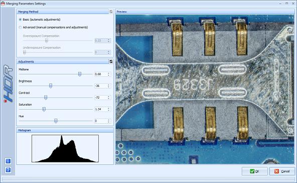 HDR module screenshot