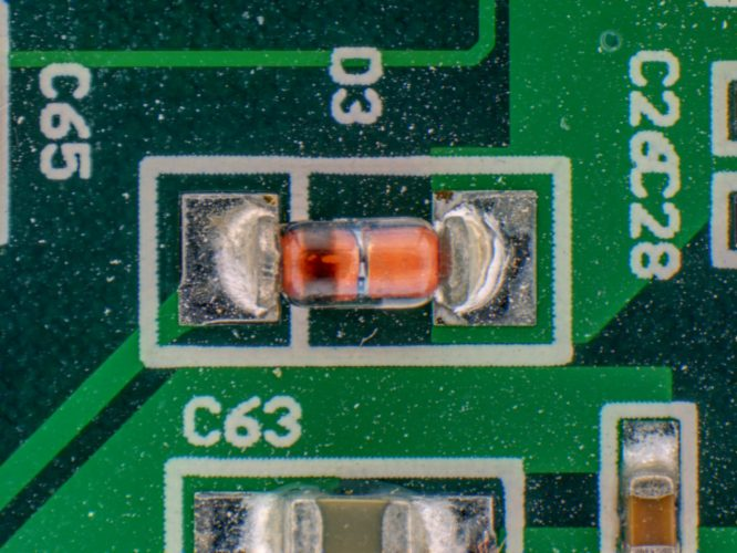 SMD diode captured by HDR software module
