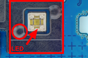 Annotations made in QuickPHOTO INDUSTRIAL microscope imaging software