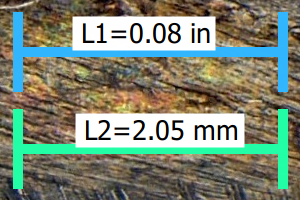 QuickPHOTO INSUSTRIAL - imperial and metric units