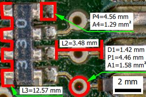 QuickPHOTO INDUSTRIAL measurements