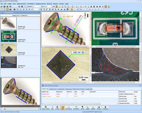 QuickPHOTO INDUSTRIAL Microscope Software Screenshot