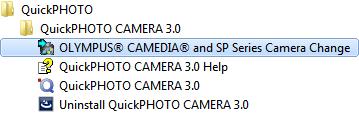 start-menu-olympus-camedia-camera-change-link