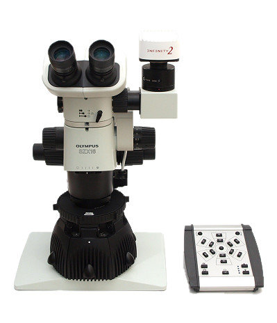 SUNFLOWER LED illuminator on Olympus SZX16 microscope with Lumenera camera